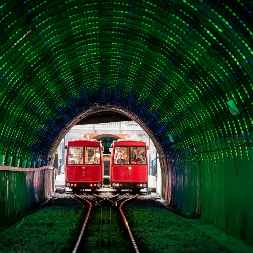 Cable Car Light Tunnel