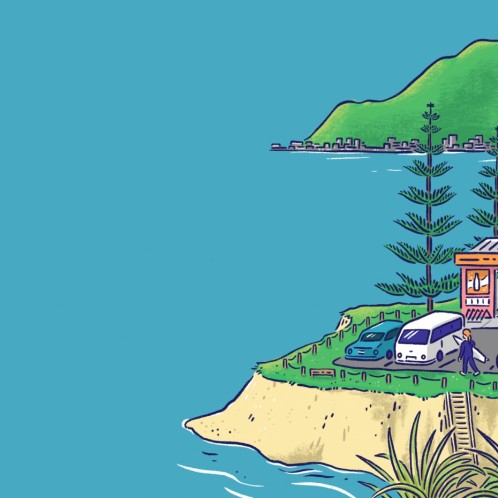 Illustration of NZ town